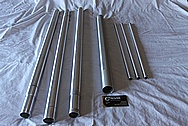 Aluminum Binocular Tripod Pieces BEFORE Chrome-Like Metal Polishing and Buffing Services / Restoration Services