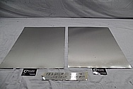 Aluminum Thin Sheet Metal BEFORE Chrome-Like Metal Polishing and Buffing Services - Aluminum Polishing