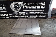 Aluminum Sheet Polishing BEFORE Chrome-Like Metal Polishing and Buffing Services - Aluminum Polishing