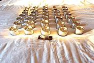 Decorative Trophy Aluminum Pieces BEFORE Chrome-Like Metal Polishing and Buffing Services / Restoration Services