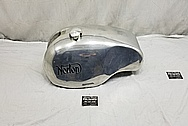 Norton Aluminum Motorcycle Gas Tank BEFORE Chrome-Like Metal Polishing and Buffing Services / Restoration Services - Aluminum Polishing