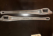 Aluminum Ridgid Wrench Pieces BEFORE Chrome-Like Metal Polishing and Buffing Services / Restoration Services - Aluminum Polishing - Wrench Polishing - Plus Custom Painting Services and Graphics