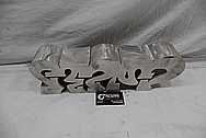 Aluminum Sculptures Piece BEFORE Chrome-Like Metal Polishing and Buffing Services / Restoration Services