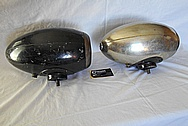 E&J Type 20 Aluminum Head Light Housing BEFORE Chrome-Like Metal Polishing and Buffing Services / Restoration Services