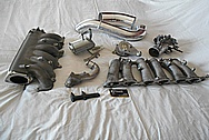 2JZ-GTE Toyota Supra Aluminum Parts BEFORE Chrome-Like Metal Polishing and Buffing Services / Restoration Services