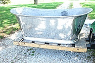 Large Aluminum Bath Tub AFTER Chrome-Like Metal Polishing and Buffing Services