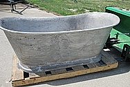 Large Aluminum Bath Tub BEFORE Chrome-Like Metal Polishing and Buffing Services