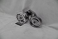 Aluminum Belt Tensioner AFTER Chrome-Like Metal Polishing - Aluminum Polishing Services