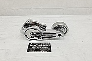 Aluminum Belt Tensioner and Pulley AFTER Chrome-Like Metal Polishing - Aluminum Polishing Services