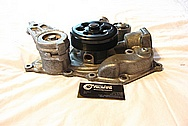 Dodge Challenger 6.1L Hemi Engine Aluminum Belt Tensioner BEFORE Chrome-Like Metal Polishing and Buffing Services