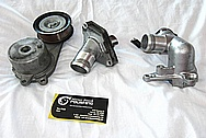 Nissan GTR Aluminum Belt Tensioner BEFORE Chrome-Like Metal Polishing and Buffing Services / Restoration Services