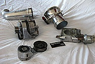Saleen Mustang Aluminum Belt Tensioner BEFORE Chrome-Like Metal Polishing and Buffing Services / Restoration Services