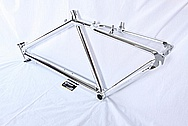 Titanium Bicycle Frame / Front Fork AFTER Chrome-Like Metal Polishing and Buffing Services and Restoration Services