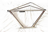 6 AL/4V Titanium Bicycle Frame AFTER Chrome-Like Metal Polishing and Buffing Services and Restoration Services