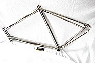 Lynskey Helix Titanium Bicycle Frame AFTER Chrome-Like Metal Polishing and Buffing Services and Restoration Services