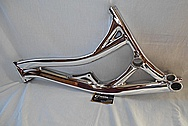 Specialized SX Aluminum Bicycle Frame AFTER Chrome-Like Metal Polishing and Buffing Services / Restoration Services