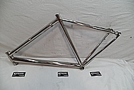 Titanium Lynskey R 340 Bicycle Frame AFTER Chrome-Like Metal Polishing and Buffing Services / Restoration Services