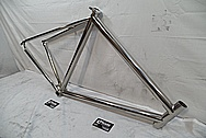 Titanium Seven Cycle Bicycle Frame AFTER Chrome-Like Metal Polishing and Buffing Services / Restoration Services