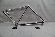 Aluminum Bicycycle Frame AFTER Chrome-Like Metal Polishing - Aluminum Polishing