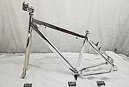 Aluminum Bicycycle Frame AFTER Chrome-Like Metal Polishing - Aluminum Polishing