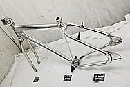 Steel Bicycycle Frame AFTER Chrome-Like Metal Polishing - Steel Polishing