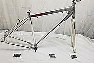 Steel Bicycycle Frame AFTER Chrome-Like Metal Polishing - Steel Polishing