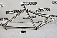 Titanium Bicycle Frame AFTER Chrome-Like Metal Polishing and Buffing Services - Titanium Polishing Services