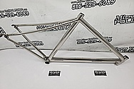 Titanium Bicycle Frame AFTER Chrome-Like Metal Polishing and Buffing Services / Restoration Services - Titanium Polishing - Bicycle Polishing
