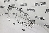 1932 Aluminum Vintage Bicycle Frame AFTER Chrome-Like Metal Polishing and Buffing Services / Restoration Services - Aluminum Polishing - Bicycle Polishing - WITH GOUGES & NOSTALGIA LEFT IN
