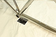 Lynskey 3/2.5 Grade Titanium Bicycle Frame AFTER Chrome-Like Metal Polishing and Buffing Services