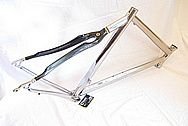 Titanium Litespeed Bicycle Frame AFTER Chrome-Like Metal Polishing and Buffing Services