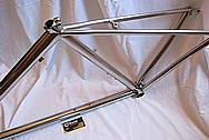 Titanium Metal Bicycle Frame AFTER Chrome-Like Metal Polishing and Buffing Services