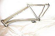 Litespeed Titanium Bicycle Frame AFTER Chrome-Like Metal Polishing and Buffing Services