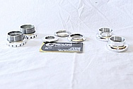 Aluminum Bicycle Hardware Pieces AFTER Chrome-Like Metal Polishing and Buffing Services / Restoration Services