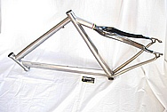 Titanium Litespeed Bicycle Frame BEFORE Chrome-Like Metal Polishing and Buffing Services