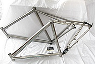 Titanium Metal Bicycle Frame BEFORE Chrome-Like Metal Polishing and Buffing Services