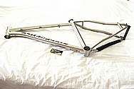 Litespeed Titanium Bicycle Frame BEFORE Chrome-Like Metal Polishing and Buffing Services