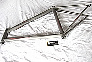 Lightweight Titanium Bicycle Frame BEFORE Chrome-Like Metal Polishing and Buffing Services