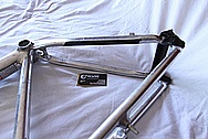 Titanium Bicycle Frame / Front Fork BEFORE Chrome-Like Metal Polishing and Buffing Services and Restoration Services