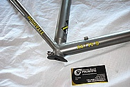6 AL/4V Titanium Bicycle Frame BEFORE Chrome-Like Metal Polishing and Buffing Services and Restoration Services
