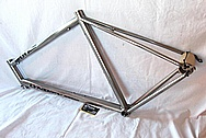 Lynskey Helix Titanium Bicycle Frame BEFORE Chrome-Like Metal Polishing and Buffing Services and Restoration Services