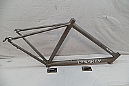 Titanium Lynskey R 340 Bicycle Frame BEFORE Chrome-Like Metal Polishing and Buffing Services / Restoration Services
