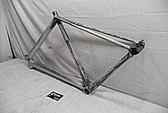 Aluminum Bicycycle Frame BEFORE Chrome-Like Metal Polishing - Aluminum Polishing