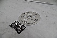 Aluminum Bicycycle Chain Disc BEFORE Chrome-Like Metal Polishing - Aluminum Polishing