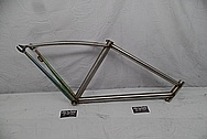 Steel Bicycycle Frame BEFORE Chrome-Like Metal Polishing - Steel Polishing