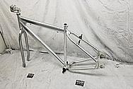 Aluminum Bicycycle Frame BEFORE Chrome-Like Metal Polishing - Aluminum Polishing