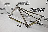 Titanium Bicycle Frame BEFORE Chrome-Like Metal Polishing and Buffing Services - Titanium Polishing Services