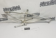 Aluminum Bicycle Frame and Cranks BEFORE Chrome-Like Metal Polishing and Buffing Services - Aluminum Polishing Services - Bicycle Polishing