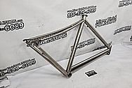 Titanium Bicycle Frame BEFORE Chrome-Like Metal Polishing and Buffing Services / Restoration Services - Titanium Polishing - Bicycle Polishing
