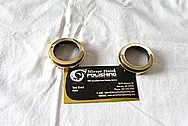 Japanese 1930's WWII 20x120 Toko Aluminum and Brass Binoculars AFTER Chrome-Like Metal Polishing and Buffing Services